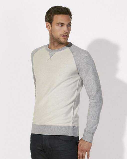 miesten collegepaita inside out heather grey